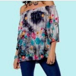 Minkas Flowy off shoulder blouse